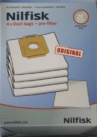 Nilfisk Vacuum Cleaner Bags Power Range, P10, P20, P40.